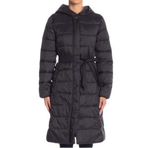 NWT!💝 Cole Haan Hooded Knee-Length Puffer Coat